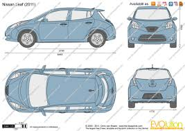 nissan leaf x 2015 the blueprints com vector drawing nissan leaf