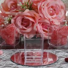 sweet treat cups wholesale 12 pcs wholesale clear plastic dessert favor wedding cake cube