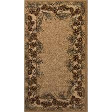 Round Natural Rug by Balta Us Whispering Pine Beige 5 Ft 3 In X 7 Ft 5 In Area Rug