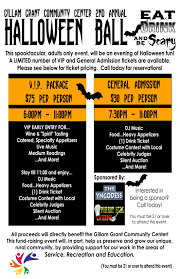 halloween save the date halloween ball u2013 gillam grant community center