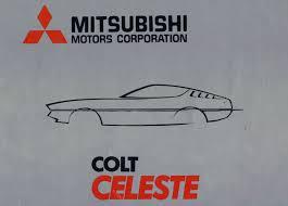 mitsubishi celeste auto brochures