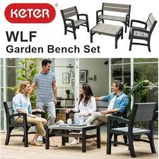 Keter Folding Bench Qoo10 Keter Wlf Garden Bench Set Waterproof Plastic Table