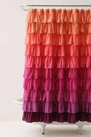 Ruffle Shower Curtain Anthropologie Smoldering Hues Shower Curtain Anthropologie