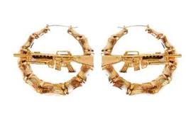 gun earrings jewels gold boucle d oreille earrings gold earings gun gold
