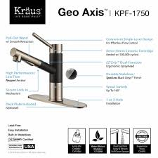 Kitchen Faucet With Built In Sprayer by Kitchen Faucet Kraususa Com