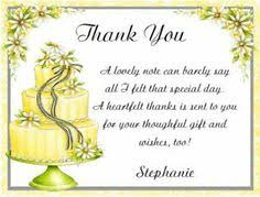 words for wedding shower card bridal shower thank you cards sle wording tips and etiquette
