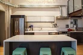 modern apartment industrial style kitchen open stock photo norma