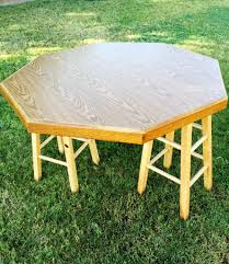 easy diy octagon table and how to paint laminate classy clutter