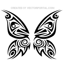 butterfly tribal graphics vector free vectors ui