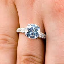 plus size engagement rings size 4 carat cut cz engagement ring with pave band