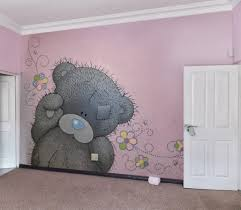 special wall paint home dzine how to paint a tatty teddy mural