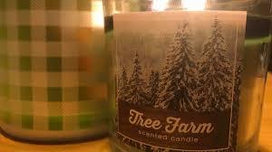 sonoma u201ctree farm u201d candle review kohl u0027s christmas 2017 candle