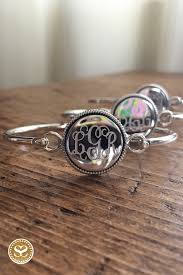monogrammed bracelets pin by aubrie on monogram obsession monogram