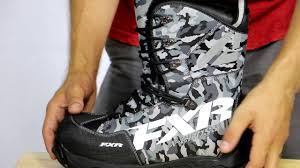 fxr x cross snowmobile boot review youtube