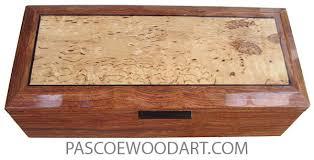 handcrafted wood box keepsake box wenge spalted maple burl