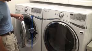 Washer Fan Breeze Installed With Straps On Front Load Washer Youtube