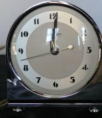 Herman Miller Clocks Art Deco Chromed Sleek Lined Alarm Clock Hammond Hammond