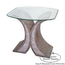 Glass Top Side Table Maitland Smith Tessellated Stone Glass Top Side Table Bucks