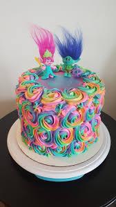 trolls rainbow rosette birthday cake www myheavenlyconfections com