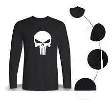 Black And White Us Flag Luckyfridayf New Punisher Skull American Flag T Shirt Men Black