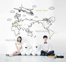 World Map Wall Decal by Free Shipping Bedroom World Map Wall Stickers Map Wall Decals