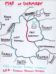 Map Of West Germany by Berlin Wall