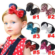 toddler hair accessories baby gold sequin bow headband toddler headbands glitter hair