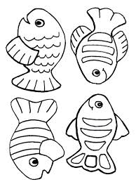free creation coloring page fish just for kids pinterest