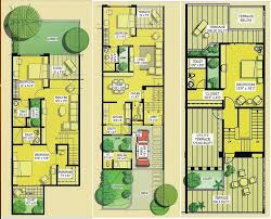 row house floor plan row house plans pune house plan