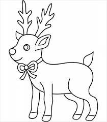 coloring pages reindeer drawings cartoon draw christmas