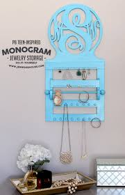 Pbteen Bookcase Pb Teen Inspired Monogram Wall Jewelry Storage