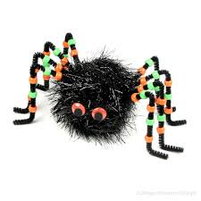 big black spider pom pom kit set of 2 fun diy halloween crafts