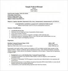 resume template pdf free federal resume template template business
