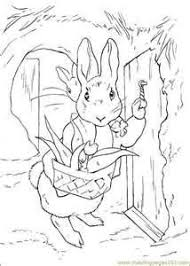peter rabbit stealing carrots coloring printable