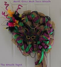mardi gras ribbon diy deco mesh ribbon wreath mardi gras the wreath depot
