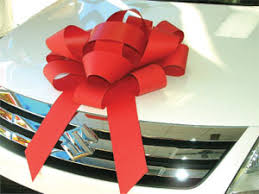 big bow for car present car bows