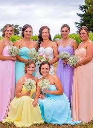 designer bridesmaid dresses mix bridal
