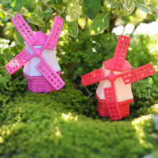 moss miniature bottle micro landscape ecology windmill ornaments