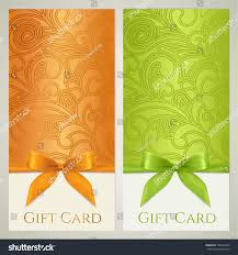 Holiday Gift Card Template Voucher Gift Certificate Coupon Gift Card Stock Illustration