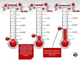 Thermometer Template Reaching Your Goal A Powerpoint Template From Thermometer For Fundraising Template