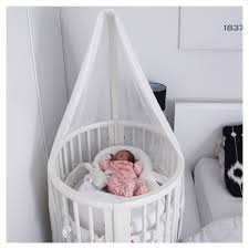 Bratt Decor Crib Craigslist by Round Bassinet W Wheels Converts Into A Crib Toddler Bed Plus