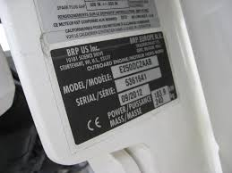 100 bombardier outboard motors serial number identification