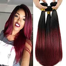 ombre weave top hair ombre burgundy hair extensions