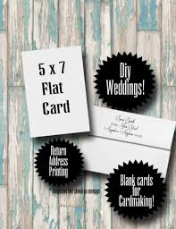 blank cards with envelopes and return address printing 25 white