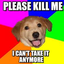 Please Kill Me Meme - please kill me advice dog meme on memegen