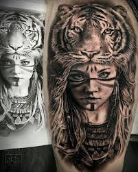 collection of 25 black n grey ink indian woman tattoo design