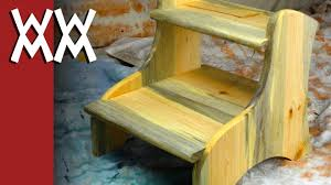 Free Wood Step Stool Plans by Sturdy Easy To Build Two Step Step Stool Youtube