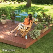 Deck In The Backyard Backyard Floating Deck Plans Design And Ideas