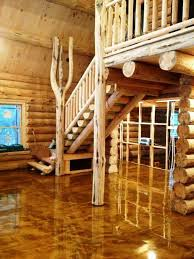 log cabin floors decorative concrete floors outdoors