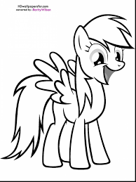 fantastic my little pony rainbow dash coloring pages with rainbow